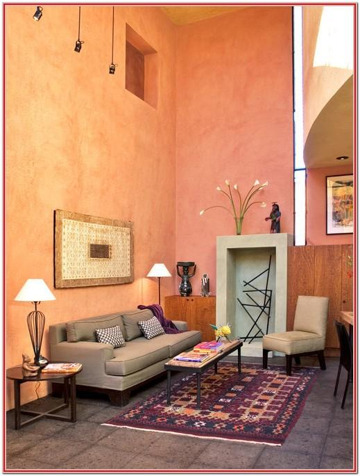 Design Ideas Living Room Peach Walls Bright