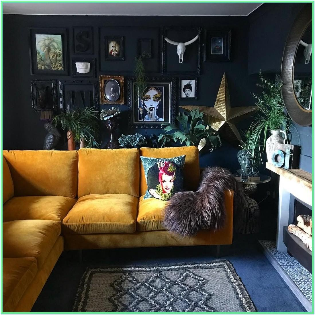 Eclectic Yellow Living Room Ideas
