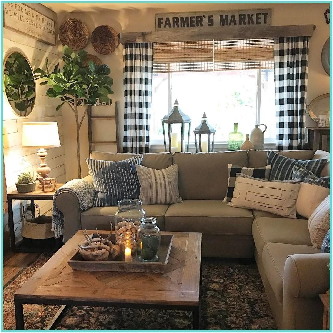 Farmhouse Rustic Country Living Room Ideas