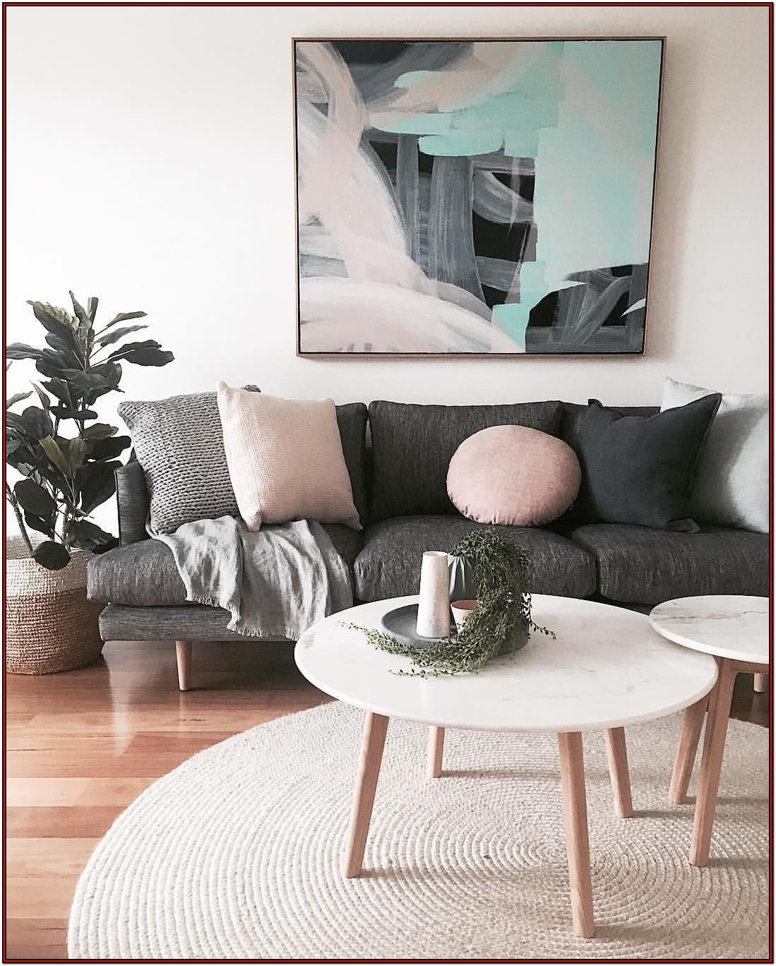 Grey And Dusky Pink Living Room Ideas
