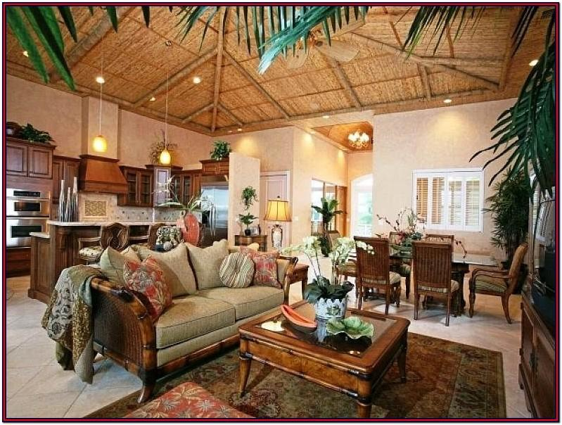 Living Room Bamboo Decoration Ideas