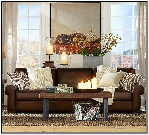 Living Room Design Ideas With Brown Leather Sofa