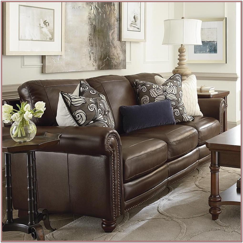 Dark Brown Leather Sectional Living Room Ideas