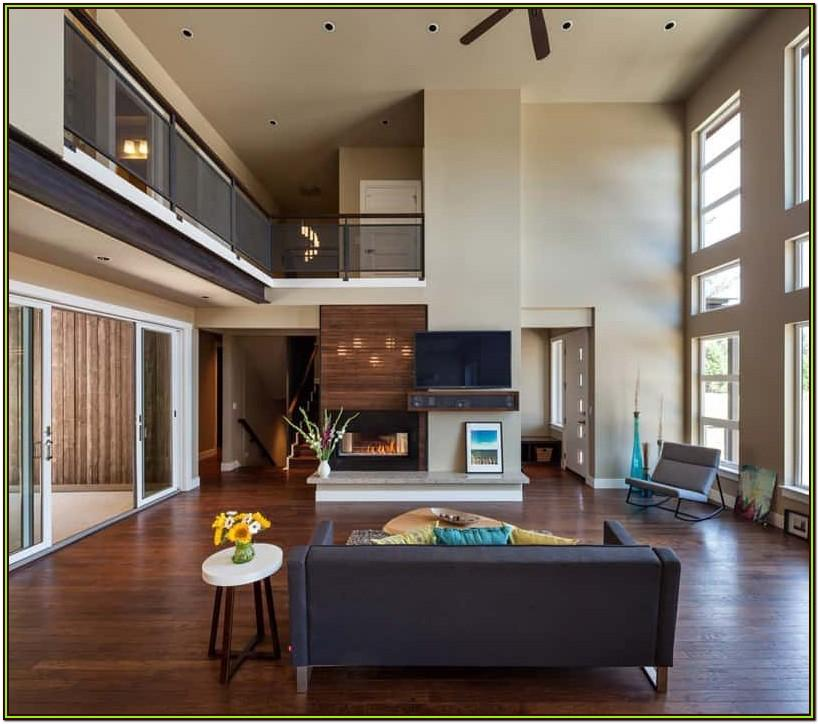 Homes With Split Living Room Ideas