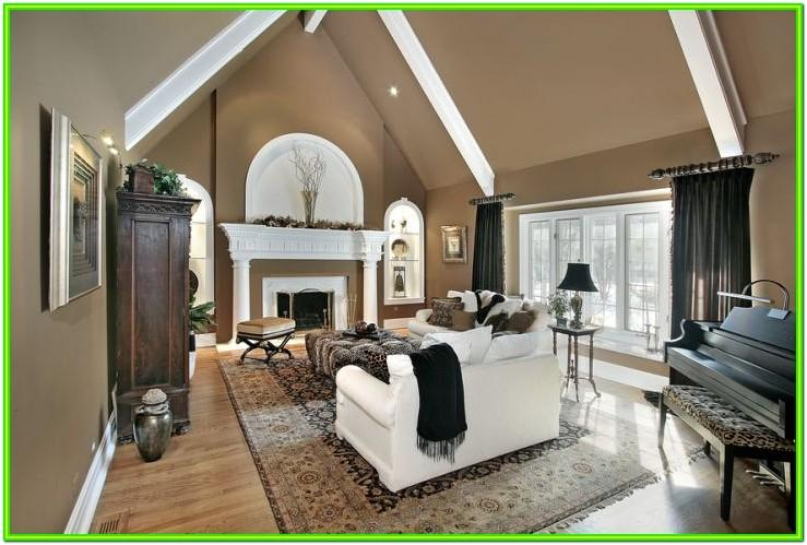 Living Room Cathedral Ceiling Ideas Landing